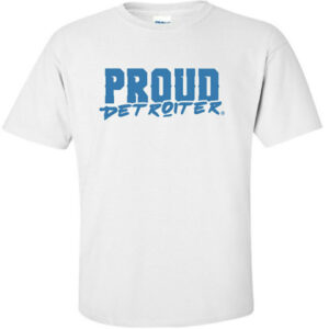 Proud Detroiter T-Shirt Lions Colors