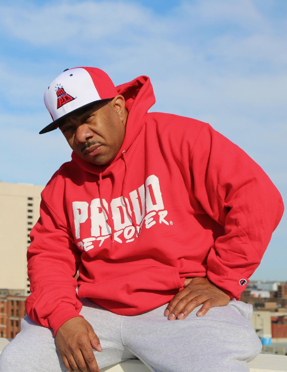 Proud Detroiter Hoodie and Hat