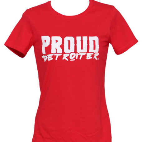 Proud Detroiter Red Tshirt