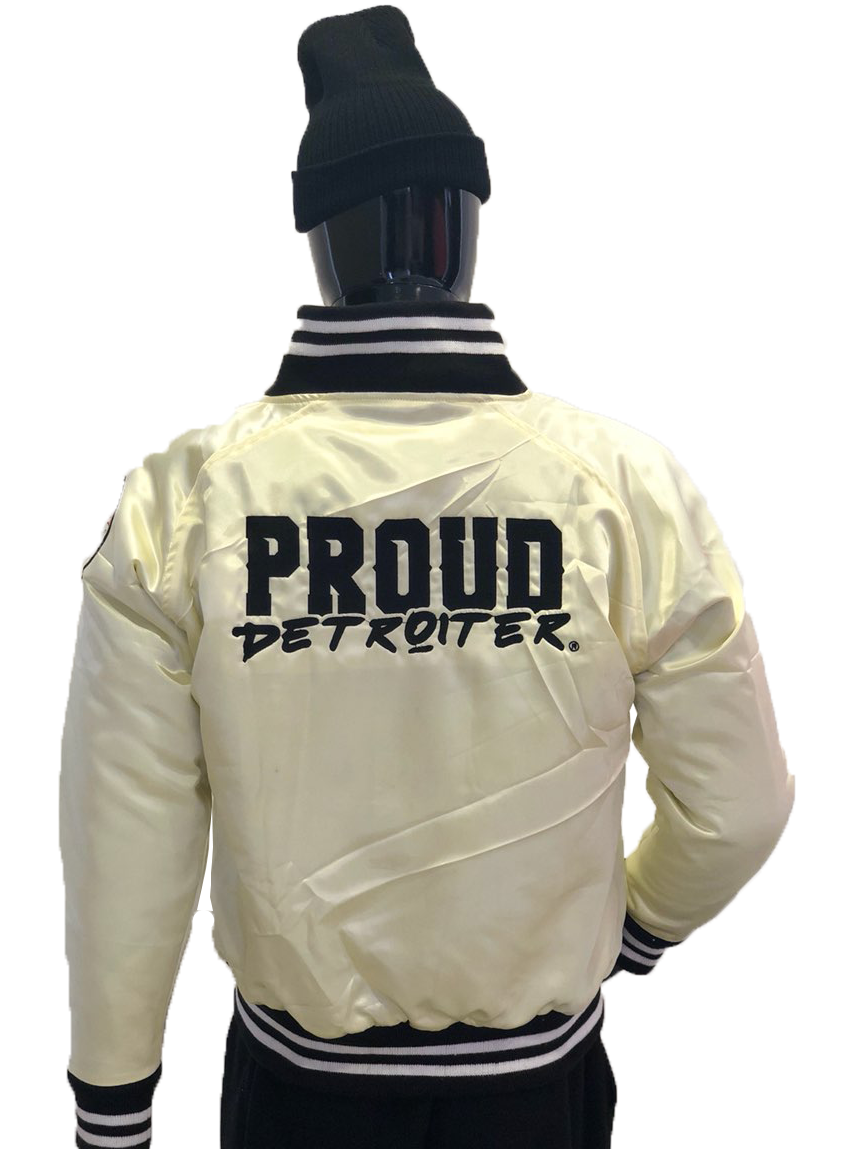 Proud Detroiter Cream Starter Jacket