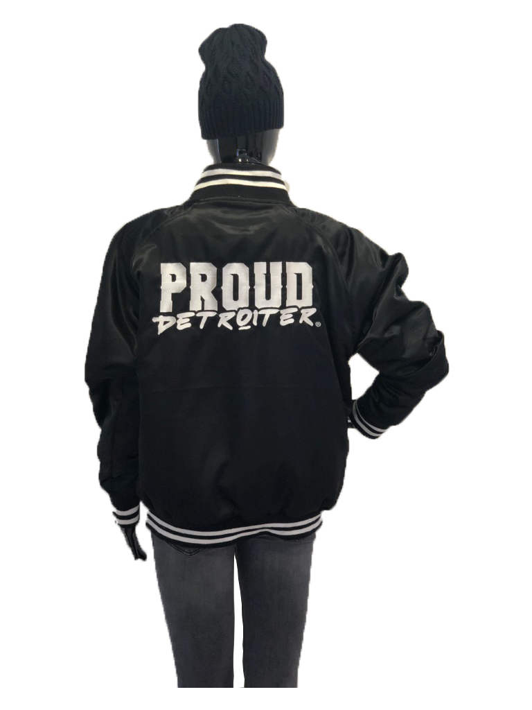 Proud Detroiter Black Starter Jacket