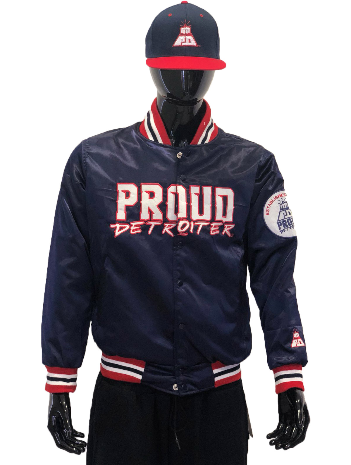 Proud Detroiter Blue starter Jacket