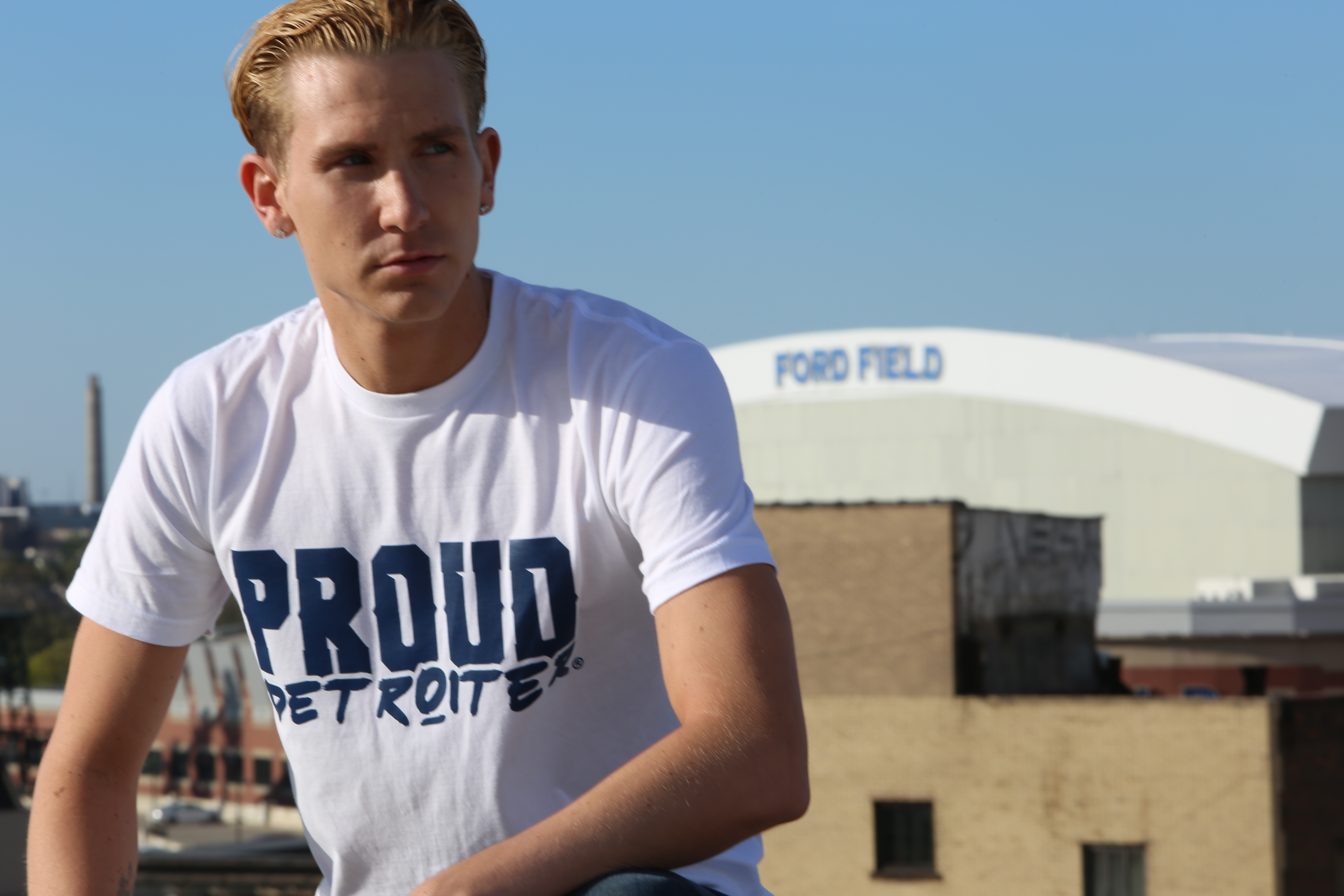 Proud Detroiter T Shirt Ford Field